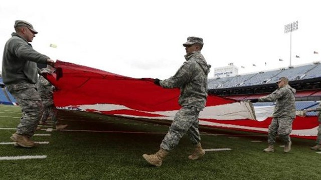 Report: NFL teams paid to salute troops during home games