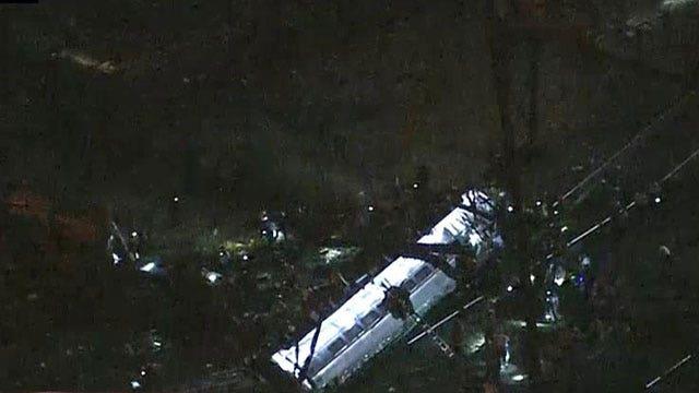 Report: Amtrak train crashes near Philadelphia