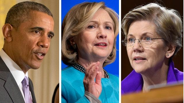 Clinton avoiding trade spat between Obama and Sen. Warren