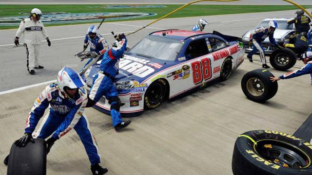 Go behind the scenes of a NASCAR pit stop