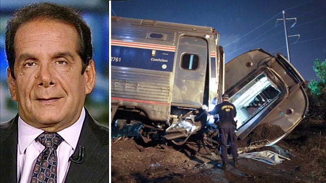 Krauthammer sounds off on the politics of the Amtrak crash