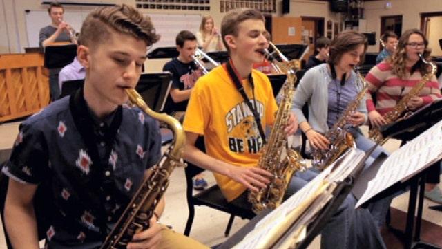 My America: Students 'turn it up' for retiring teacher
