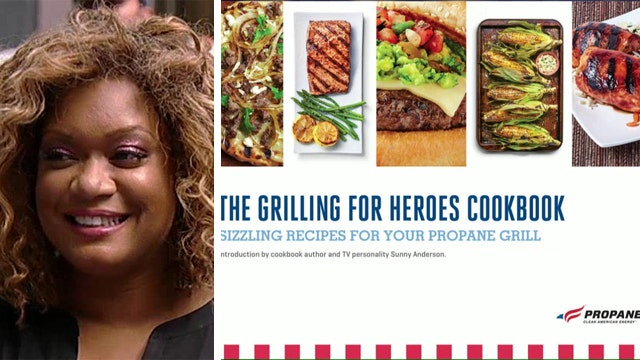 Sunny Anderson launches 'Grilling for Heroes' e-cookbook
