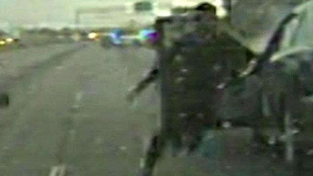Carjack suspects survive pit maneuver, flee on foot