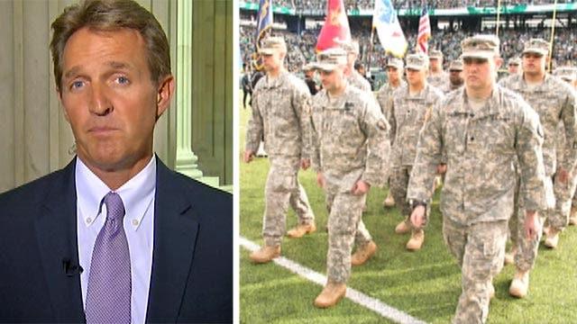 Sen. Flake pressing Defense Dept. on pro sports promotions