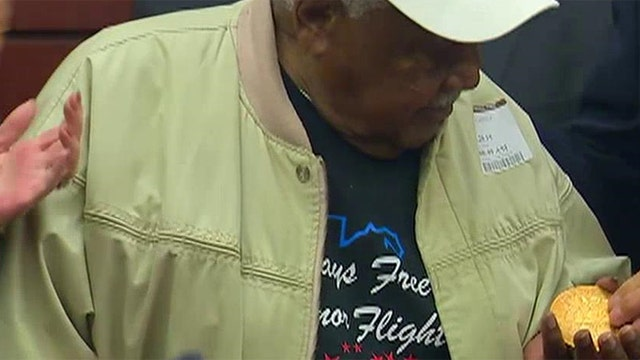 Tuskegee Airman surprised with Congressional Gold Medal