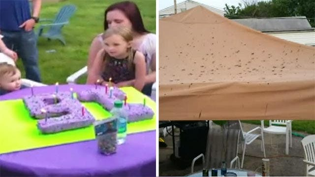 Family claims plane dumped human waste on sweet 16 party