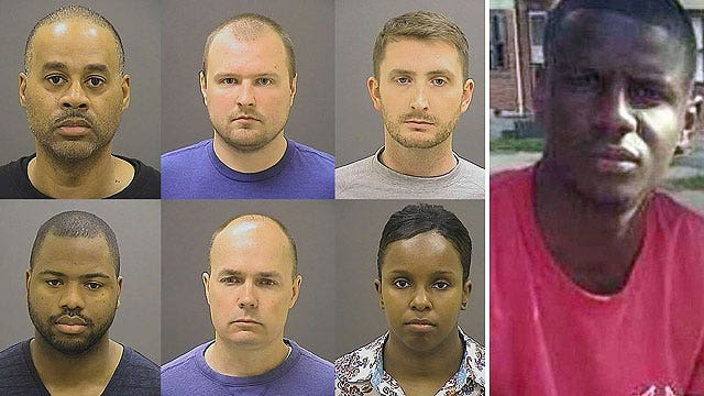 Six Baltimore officers indicted in Freddie Gray's death
