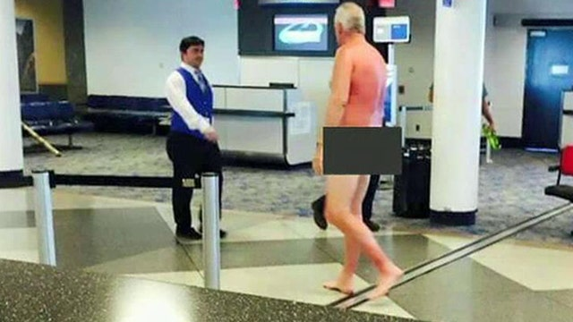 Man gets naked in airport to protest overbooked flight
