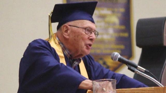 84-year-old veteran graduates from high school