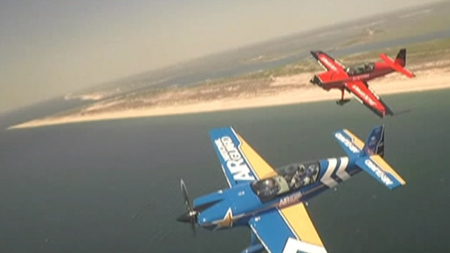 Air National Guardsman flies in NY Air Show