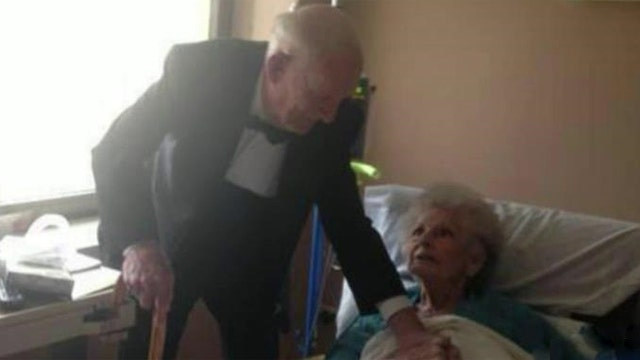 Husband shows up in tuxedo to wife's hospital