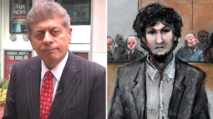 Judge Andrew Napolitano on whether or not the Boston marathon bomber will be executed.