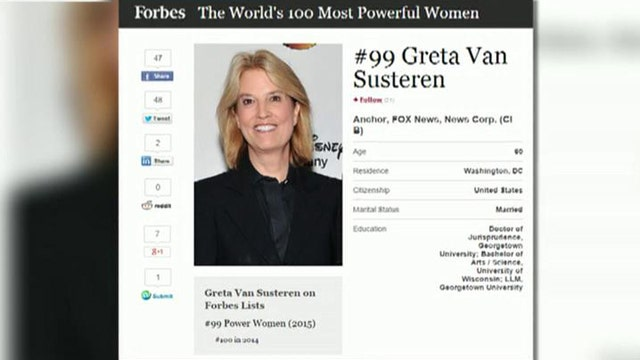 Greta: Thank you, Forbes, for 'Most Powerful' honor