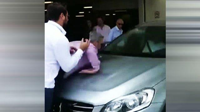Self-driving car demonstration goes badly wrong