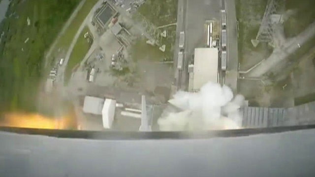 Aborted SpaceX launch shown from inside rocket