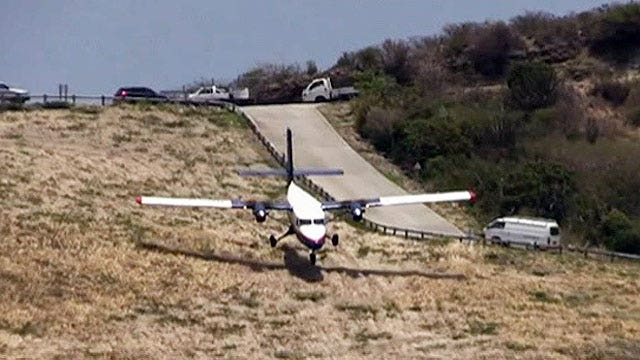 White-knuckle landing on St. Barts