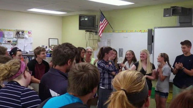 Seniors give trip money to principal diagnosed with cancer