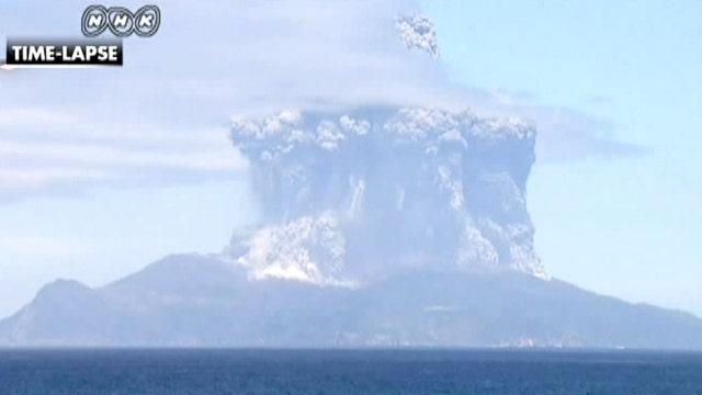 Volcano spews clouds of black ash, Japanese island evacuated