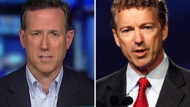 Santorum on NSA fight: 'Hopefully Rand Paul won't prevail'