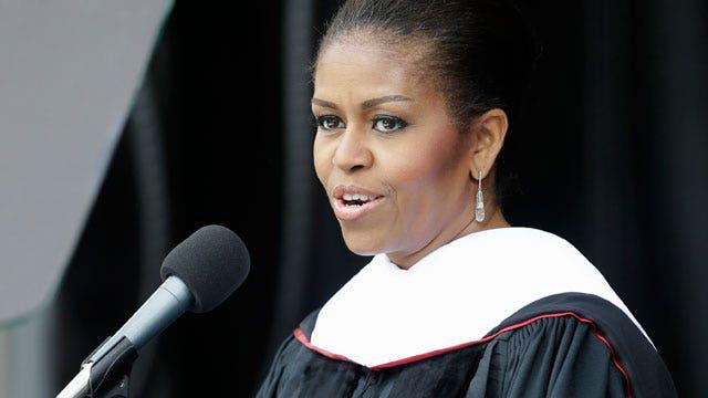 Why was Michelle Obama so divisive in graduation speech?