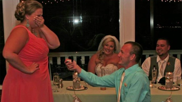 Is it okay to propose at someone else's wedding?