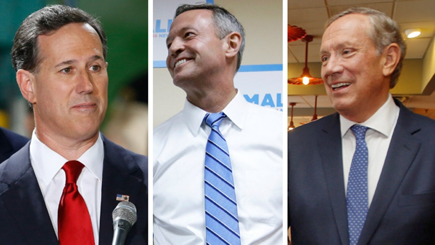 Short shrift for Santorum, Pataki, O'Malley
