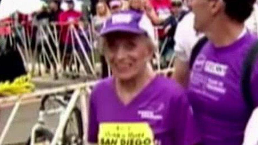 Cancer survivor becomes oldest woman to finish marathon