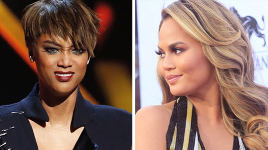 Chrissy Teigen and Tyra Banks at odds