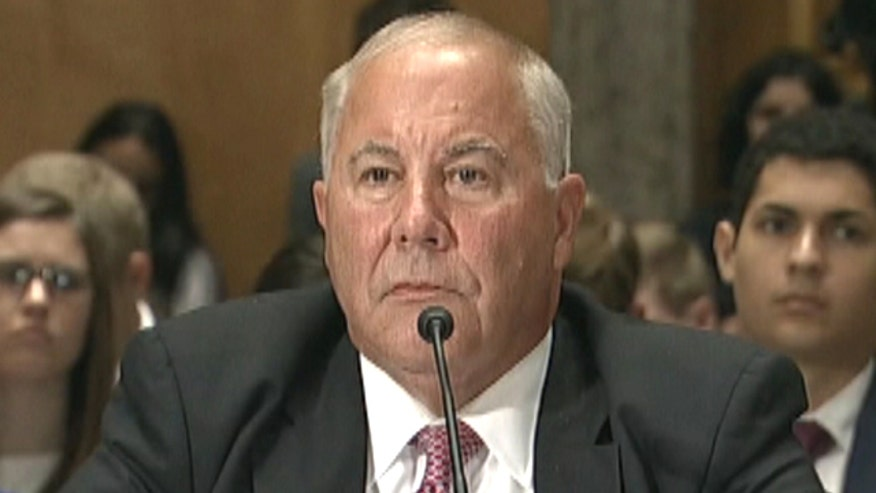 Former Associate Commissioner for Facilities and Supply Management Michael Keegan testifies at Senate hearing
