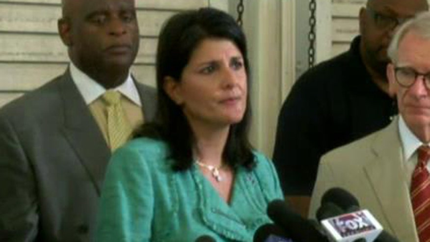 South Carolina governor delivers emotional statement after Charleston church massacre