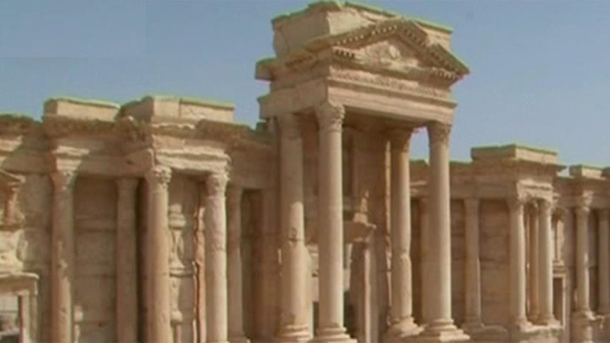 Mines and other explosives placed around the ancient city of Palmyra