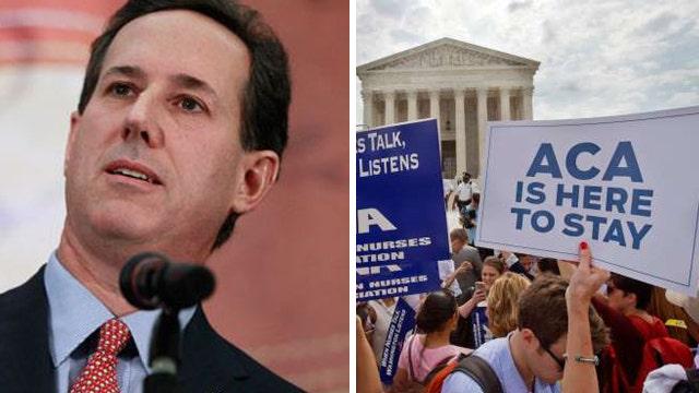 Rick Santorum: ObamaCare is not working