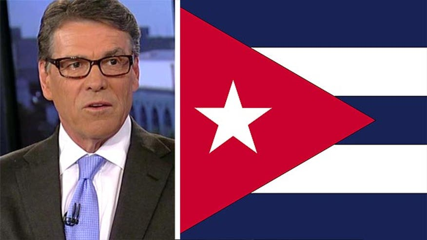 "Republican presidential candidate and former Texas governor Rick Perry (R) said Wednesday on ""Special Report with Bret Baier"" that President Obama's efforts to thaw the diplomatic freeze with Cuba are the wrong approach."