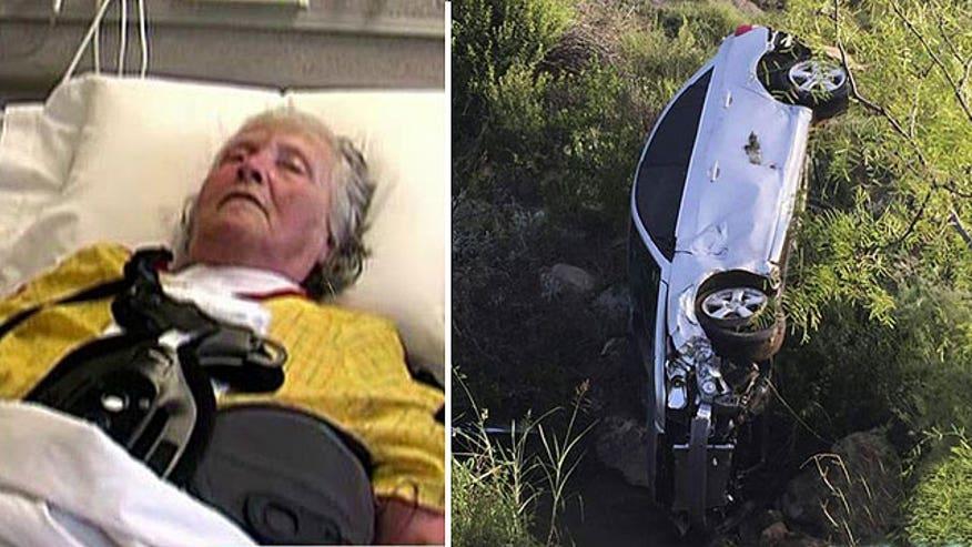 75-year-old woman survives 2 days after crashing car in ravine