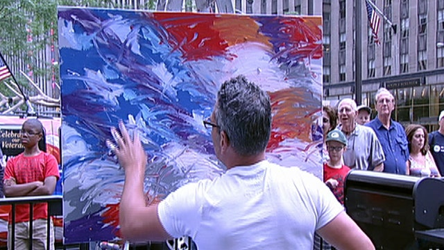 Patriotic painting to honor the Fourth of July