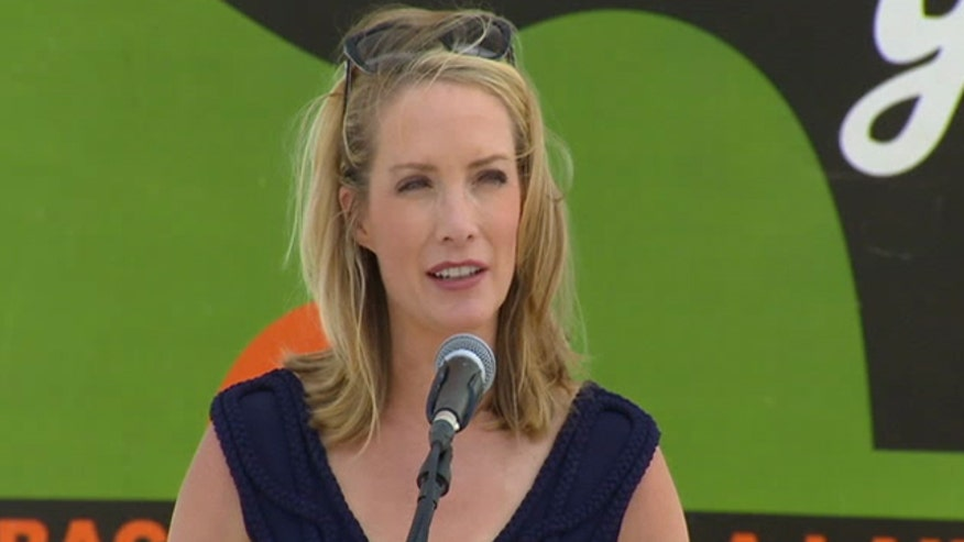 Fox News host Dana Perino speaks at Patriots Point, South Carolina
