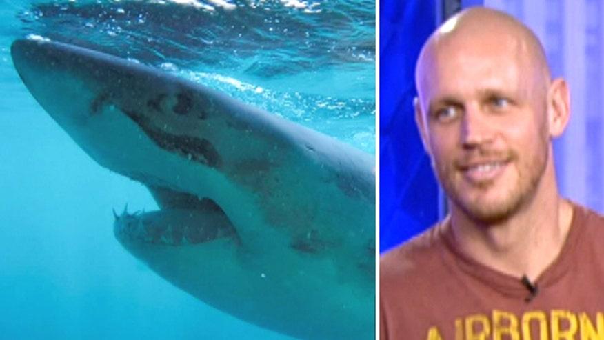 Shark Week: Navy clearance diver Paul de Gelder tells story of horrific attack in 'Bride of Jaws'