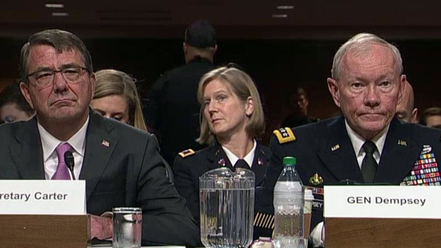 Secretary Carter, Gen. Dempsey address Armed Services Committee