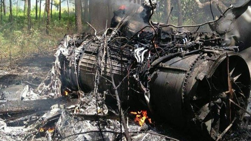 A military F16 fighter jet crashed into a small Cessna in South carolina