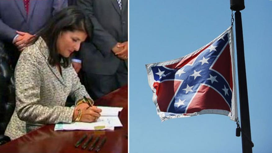 Governor signs bill to remove Confederate flag from statehouse grounds
