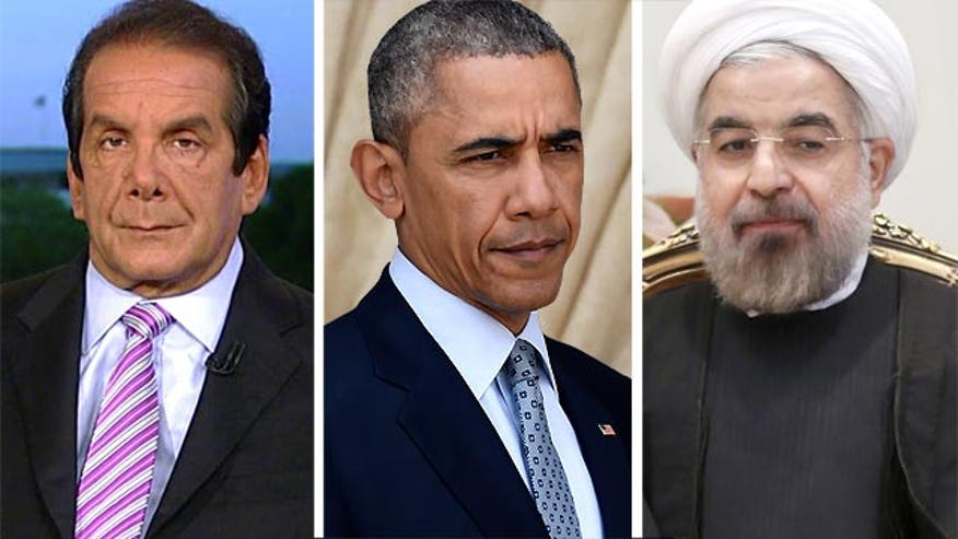 "Syndicated Columnist Charles Krauthammer charged that the United States ""gave in"" to Iran as he criticized President Obama's deal with the Islamic republic over its nuclear program."