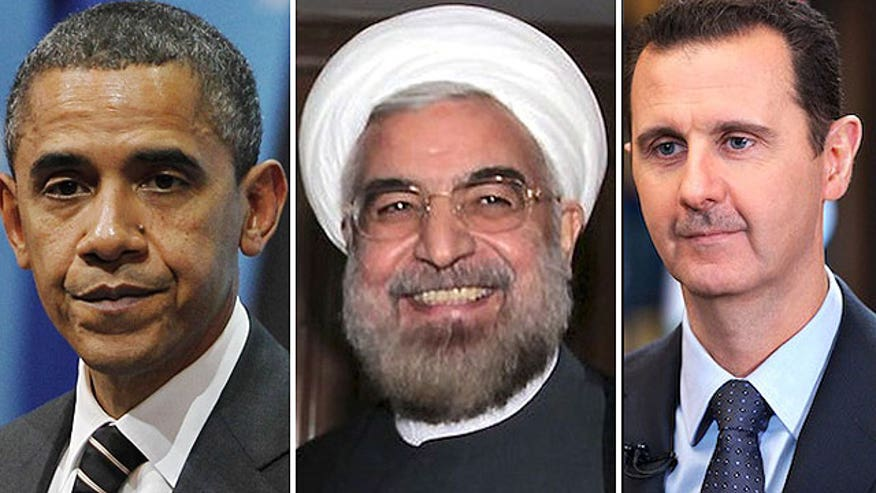 President Obama says Assad and Rouhani are 'politicians'