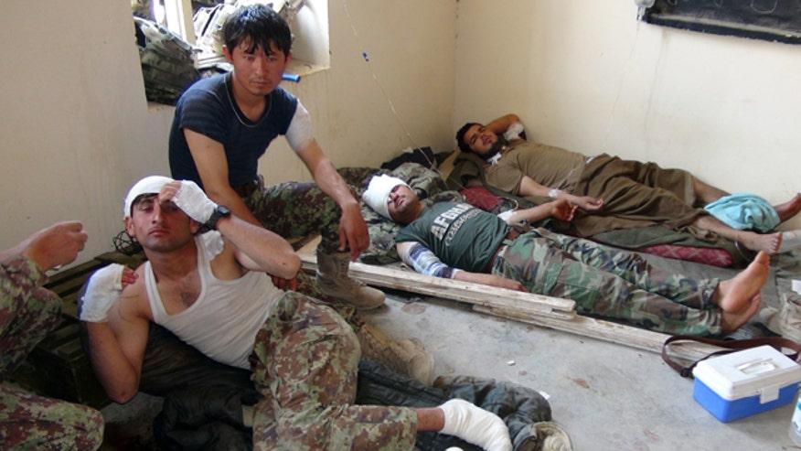 Strike killed seven Afghan soldiers