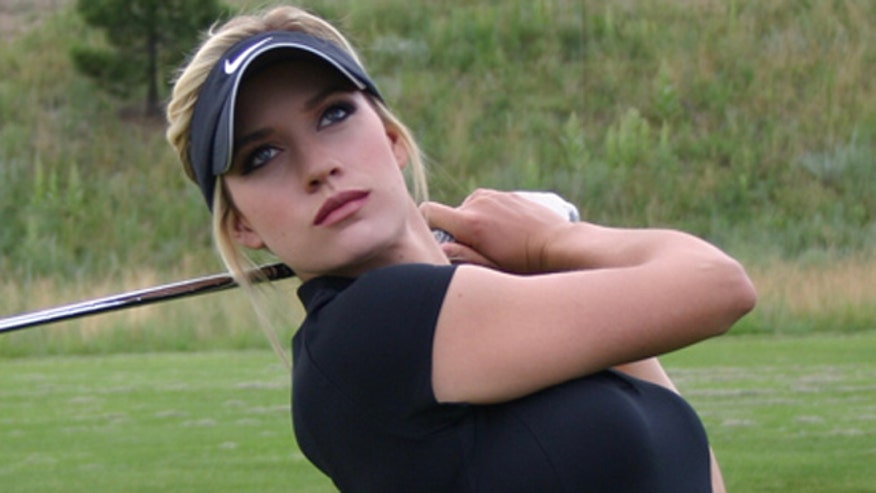 Female golfer says women can be attractive AND serious about their sport