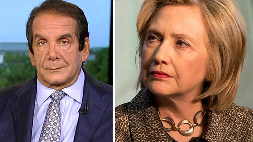 Charles Krauthammer commented Friday on 'Special Report with Bret Baier'over new revelations about Hillary's email server.