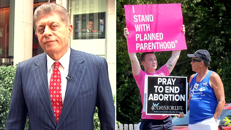 Judge Andrew Napolitano's take on the Planned Parenthood controversy