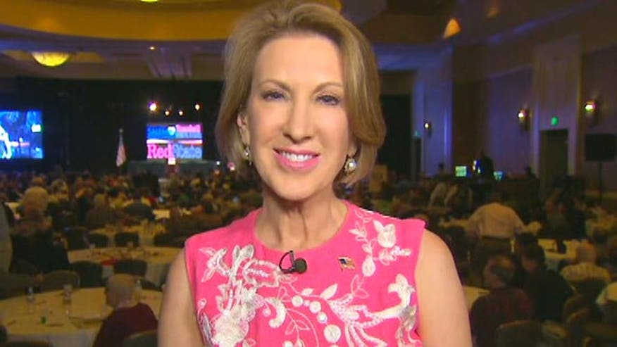 Carly Fiorina on her performance at the early GOP presidential debate, whether she achieved her goal and has better name recognition and whether she's offended when pundits say she would make a good vice presidential candidate. #GOPDebate