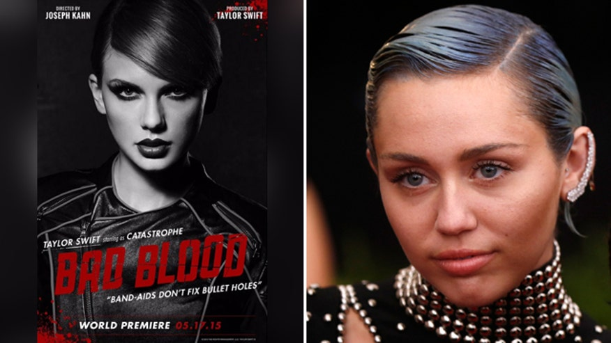 "Miley Cyrus had harsh words about Taylor Swift's ""Bad Blood"" video"