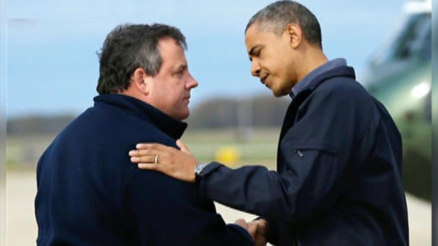 'Off the Record,' 8/13/15: Nearly three years after Sandy and after reviewing pictures and video, it is time to fix a wrong. NJ Gov. Chris Christie merely extended his hand to President Obama and did not hug him.